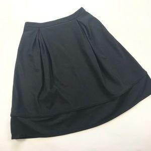 NWT Mikarose Black A-line Circle Skirt Sz M